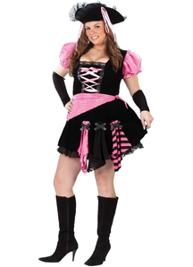 Pink Sexy Pirate Adult Costume Plus Size