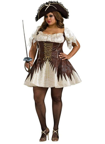 Pirate Brown Adult Costume Plus