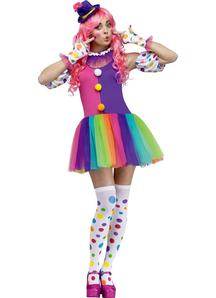 Rainbow Clown Adult Costume
