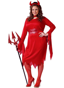 Red Devil Adult Plus Size Costume