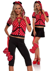 Red Minni Mouse Adult Costume