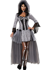 Skeleton Bride Women Costume