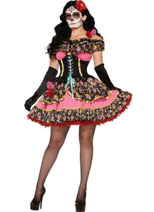 Spanish Beauty Day Of The Dead Adult Costume