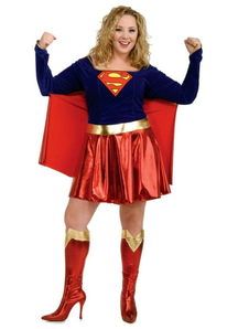 Supergirl Adult Costume Plus Size