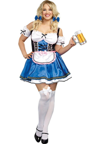 Sweet Bavarian Girl Plus Costume
