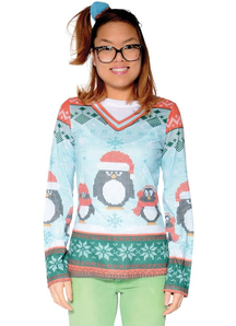 Ugly Christmas Penguin Sweater Adult