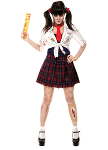 Zombie School Girl Adult Costume