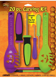 20 Pc. Pumpkin Carving Kit. Halloween  Decoration.