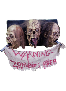 3 Faced Zombie Wall. Halloween Heads.