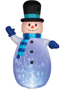 Airblown Lighted Waving Snowan