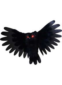 Animated Black Owl