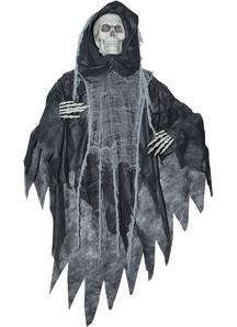 Black Skeleton Reaper. Halloween Props.