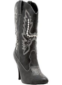 Boots Cowgirl Bk Sz 10