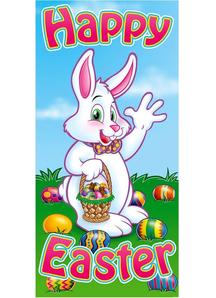 Bunny Door Cover. Easter Decoration.