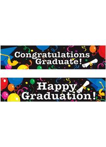 Celebreting Graduation Banners.