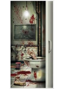 Creepy Crapper Restroom Door Cover. Walls, Doors, Windows Decoration.