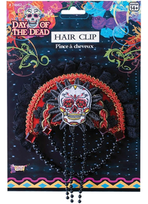 Day Of Dead Skull Hairclip