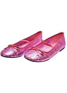 Flat Ballet Glitter Ch Pink Xl