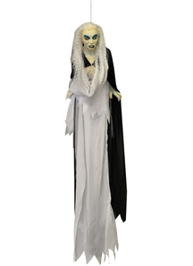 Floating White Witch 24 In. Halloween Props.