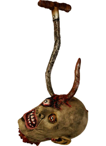 Ghoul Head On A Hook. Halloween Heads.