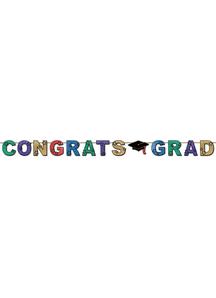 Glittered Congrats Grad Stream