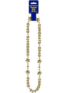 Gold Beads. Graduation Decorations.