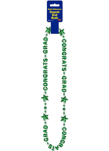 Green Beads. Graduation Decorations.