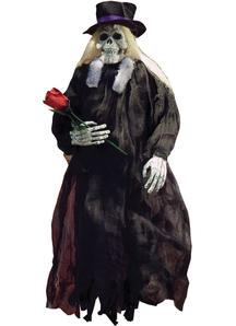 Grey Skull Hanging Reaper 36 In.  Halloween Props.