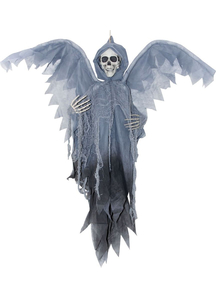 Grey Winged Reaper 3 Ft. Halloween Props.