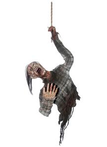 Hanging Bloody Zombie Torso. Halloween Props.