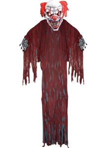 Hanging Evil Clown 12 Ft.  Halloween Props.