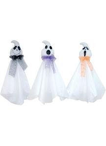 Hanging Friendly Ghosts.  Halloween Props.