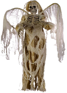 Hanging Ivory Angel Of Death.  Halloween Props.