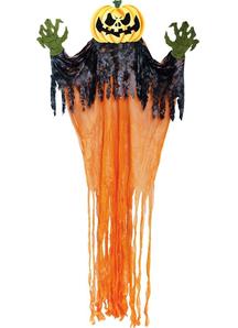 Hanging Pumpkin Monster.  Halloween Props.