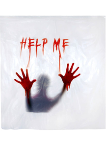 """Help Me"" Shower Curtain. Walls, Doors, Windows Decorations."