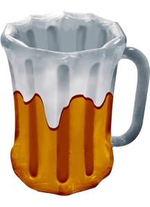 Inflatable Beer Mug Cooler. Octoberfest Decorations.