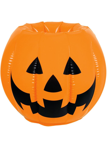Inflatable Jack Lantern Cooler. Halloween Table Decoration.