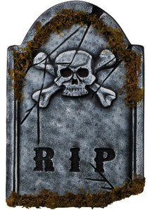 Ivy Skull Tombstone