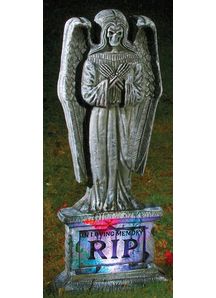 Light-Up Gothic Angel Tombstone