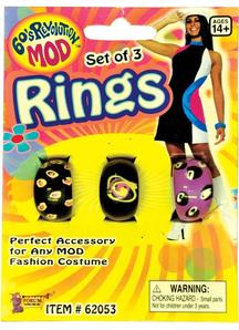 Mod Rings Set Of 3