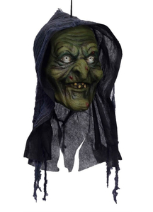 Old Witch Head. Halloween Heads.