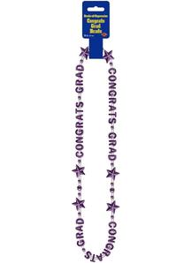 Purple Beads. Graduation Decorations.