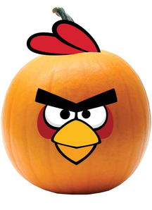 Red Angry Bird Push-In. Halloween  Decoration.