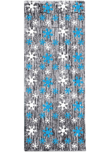 Snowflake Curtain. Holiday Decorations.
