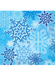 Snowflake Luncheon Napkins. Christmas Decorations.