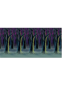 Spooky Forest Trees Backdrop. Walls, Doors, Windows Halloween Decorations.