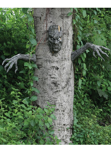Spooky Living Tree. Outdoor Decoration.
