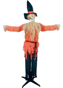 Standing Scarecrow With A Moving Jaw