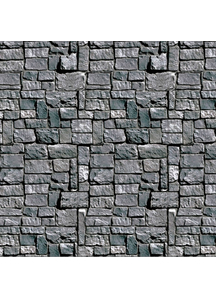 Stone Wall Backdrop. Walls, Doors, Windows Halloween Decorations.
