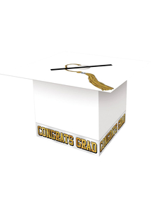 White Graduation Cap Card Box.